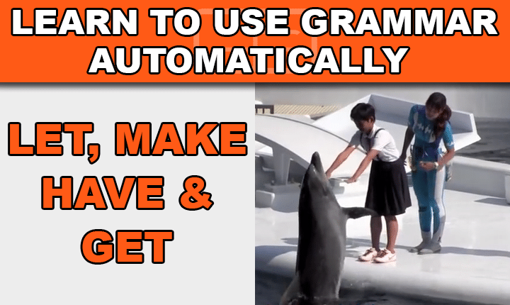 Learn causative verbs in this free video lesson to ask, request, tell and command others to do things in English, and speak English more like a native!